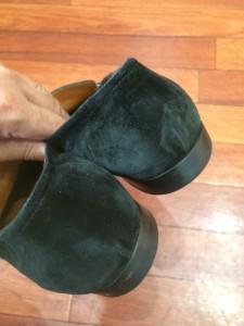 スエード靴を長く履いていると